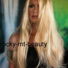 BUTTER BLOND DIVA WIG/WIGS HAIR LONG SILKY SOFT STYLE