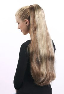 WOW VERY LONG HAIR EXTENSION BANANA CLIP ON STYLE