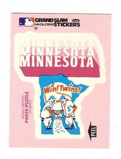 1979 Fleer MINNESOTA TWINS Hi-Gloss Logo Sticker