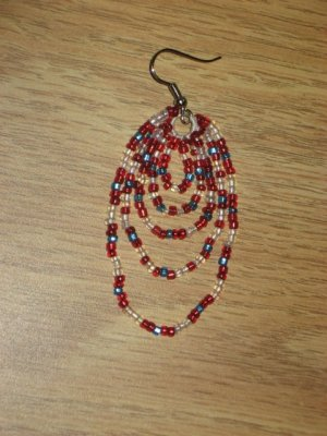 Beaded Dangle Earrings 04