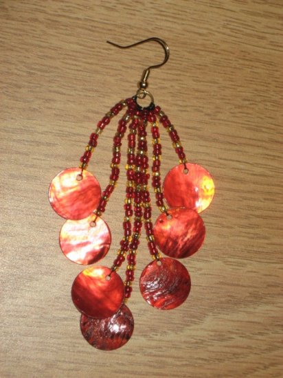 Beaded Shell Earrings 02