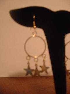 3 Star Dangle Hoops