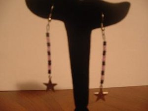 Purple and Black Dangle Star