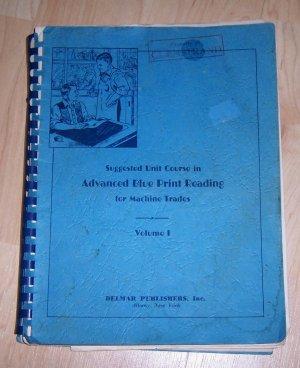 Antique Book ADVANCED BLUE PRINT READING TEXTBOOK 1942