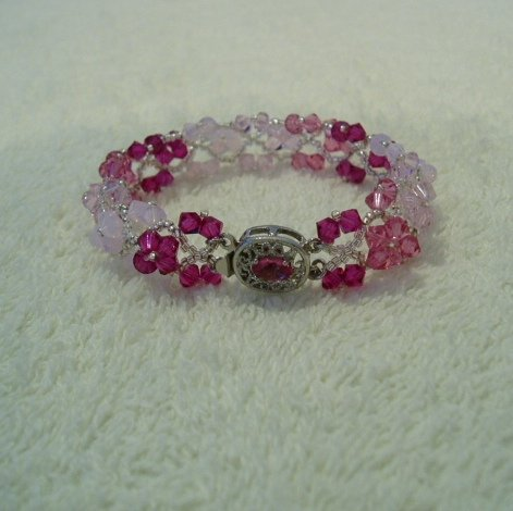 Swarovski Fuschia Everlasting Love Bracelet