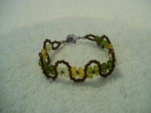 Back to Nature Rustic Olive unique Boho Bracelet