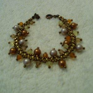 Boho Power Almond Copper Pearl Bracelet