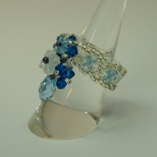 Tear Drop Crown Pearl of Blue Ocean Ring