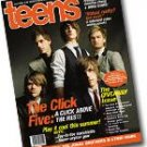 "Teens magazine featuring The Click Five + ""The Jonas Brothers"" poster."