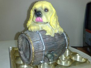 Dog On Barrel Coinbank