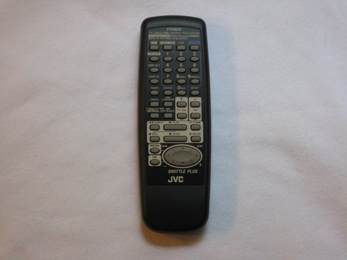 JVC MBR Shuttle Plus VCR remote control