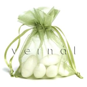 Organza Sachet Favor Bag / Bags - 2.75x4.5 Olive (Set of 10)
