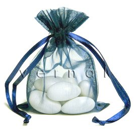 Organza Sachet Favor Bag / Bags - 3x5.5 Navy (Set of 10)