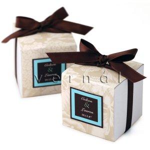 White Square Favor Box / Boxes - 2x2x2 (Set of 10)