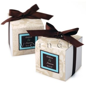 White Square Favor Box / Boxes - 3x3x3 (Set of 10)