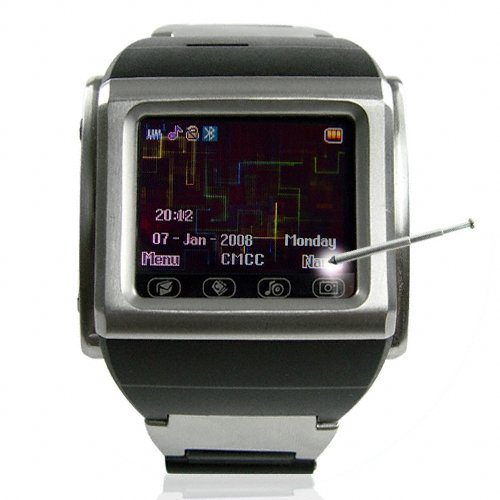 Mind Blowing Cell Phone Watch in Stainless Steel
