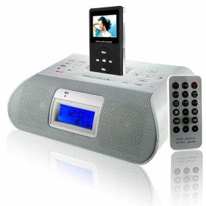 iPod + MP3 Clock Radio with Bluetooth - White