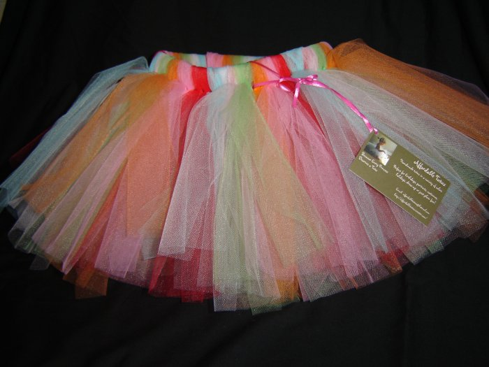 Multi-Colored Tutu 0-6M Mid Thigh