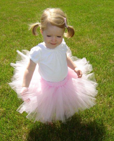 Light Pink 'Rosette' Tutu 4-5 Mid Thigh