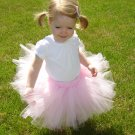 Light Pink 'Rosette'  Tutu 0-6M Mid Thigh