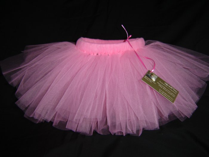 Paris Pink Tutu 0-6M Knee