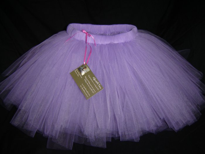 Light Purple 'Pansy' Tutu 0-6M Mid Thigh