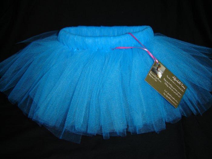 Turquoise Tutu 0-6M Mid Thigh