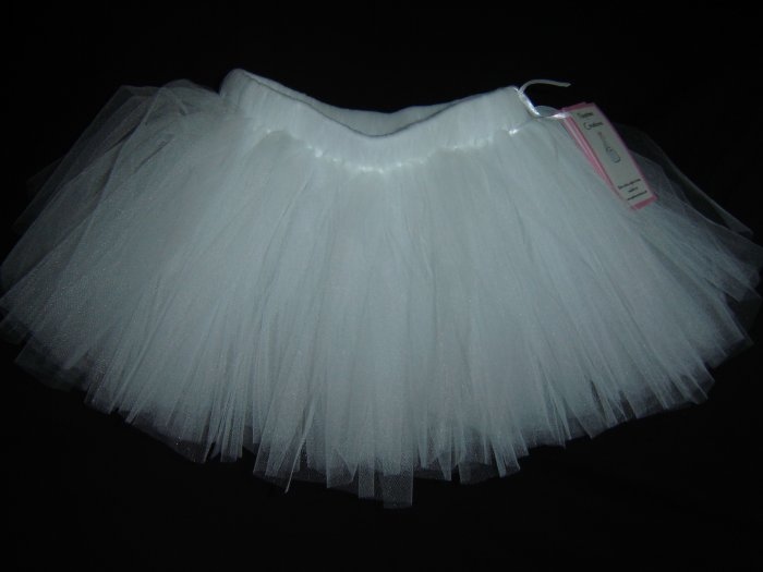 White Tutu 0-6M Mid Thigh