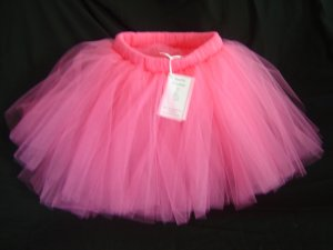 Hot Pink 'Beauty'  Tutu 12-24M Knee
