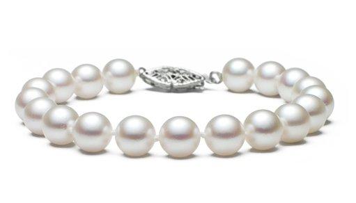 """7"""" Elite Grade - 7 to 8mm FreshWater Pearl Bracelet"""