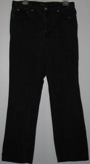 Black Denim Jeans by Ann Taylor Size 12 Low Rise Button Fly