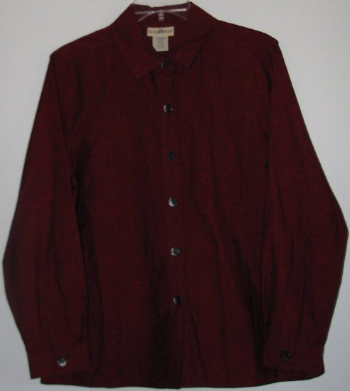 TravelSmith Long Sleeve Blouse Size Petite Small Travel Smith