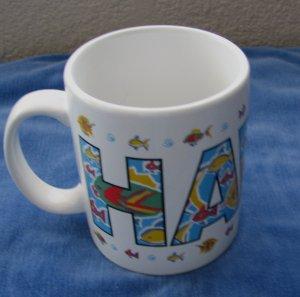 Fish Hawaii Hawaiian Collectible Coffee Mug Cup by Island Heritage