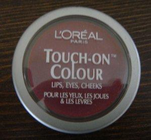 (2) Loreal FANATIC FUCHSIA Touch-On Colour Eyes Lips Cheeks L'oreal Lot Rare