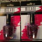 (2) Milani HOT PINK #583 Holographic Glitter Nail Polish