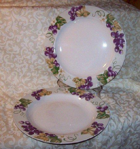 Laura Ashley GRAPEFIELDS (2) Dinner Plates