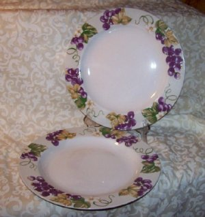 Laura Ashley GRAPEFIELDS (2) Dinner Plates
