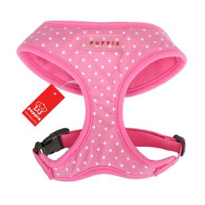 Puppia Dotty Harness Pink
