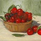 Life is Just a ... Original Oil Painting, Cherries