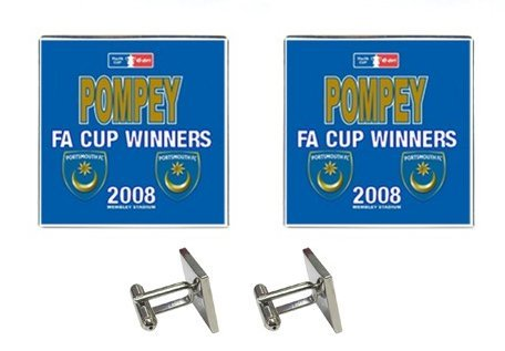 PORTSMOUTH FA CUP WINNERS CUFFLINKS PM_CL_001S