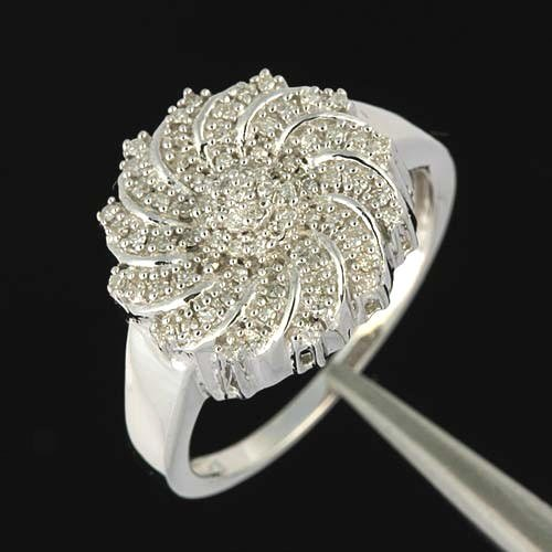0.50 Ctw Diamond Ring--mounted in Sterling Silver--CLOSE-OUT