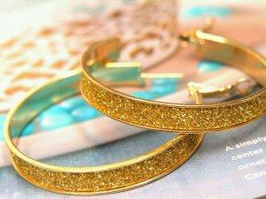 sparkling hoop earrings