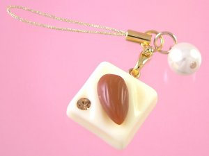 white choco hazelnut cell strap