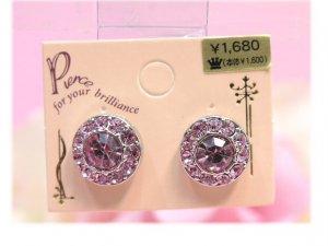 round stones earrings