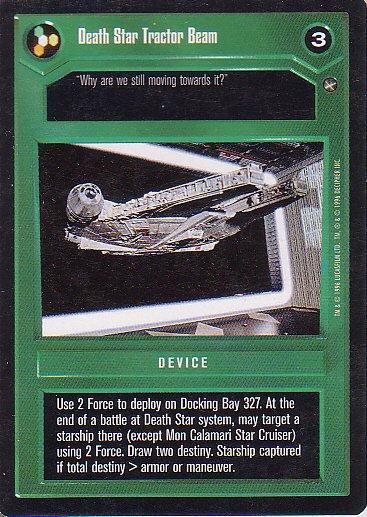 Star Wars CCG 1995 - Death Star Tractor Beam