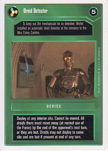 Star Wars CCG 1995 - Droid Detector