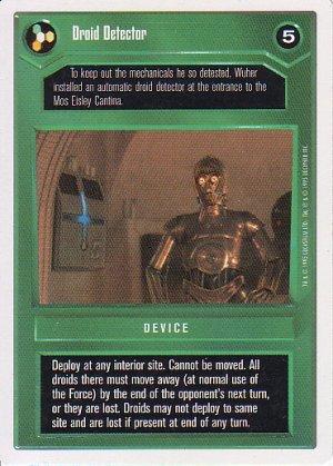 Star Wars CCG 1995 - Droid Detector