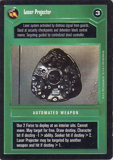 Star Wars CCG 1995 - Laser Projector
