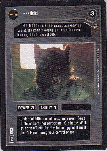 Star Wars CCG 1995 - Defel