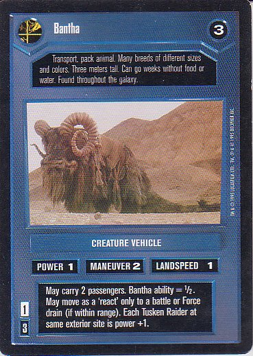 Star Wars CCG 1995 - Bantha